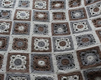 Made of square crochet blanket style granny