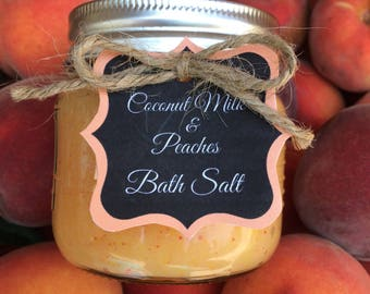 Coconut Milk & Peaches Sugar Scrub