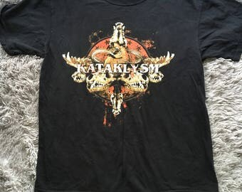 Vintage Kataklysm Skull Death Metal Band Large Tee