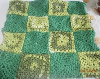 Green retro Cushion cover