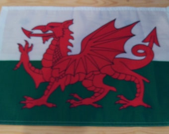 "WALES FLAG - 45cm x 30cm - 18"" x 12"" - Welsh Flag *Free UK Shipping*"