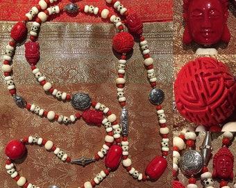 Natural stone Buddha necklace