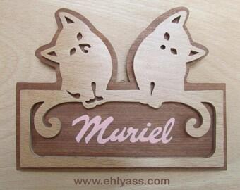 """Door model """"Two cats"""" 2 in fretwork"""