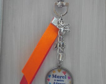 key holder with cabochon thanks to our home