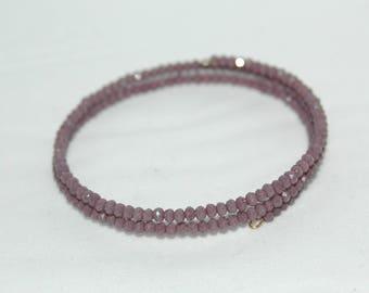 Purple memory Wire Bracelet
