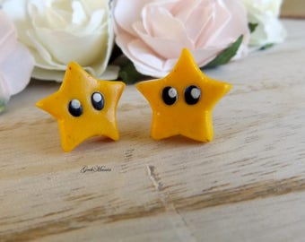 Stud earring Star of Mario