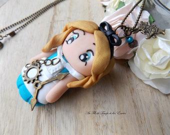 Necklace Princess Alice, Style Clock steampunk