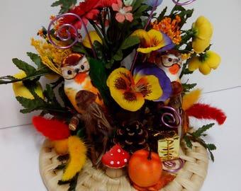decorative floral artificial flower table