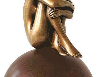 "Bronze sculpture ""La Felicita"" by Bruno Bruni Edition 156 limited to 5000 copies"