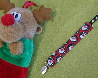 Pacifier clip in cotton model father Christmas