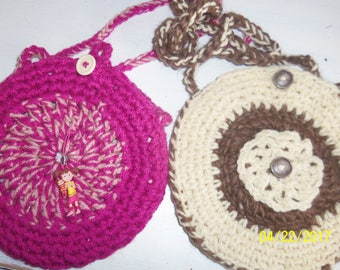 girl bag knitted hand and lined
