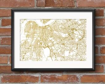 Louisville Map Art Print –Gold // Louisville Poster | Louisville Art | Louisville Print // Free Shipping