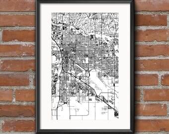 Tucson Map Art Print –Light // Tucson Poster | Tucson Art | Tucson Print // Free Shipping
