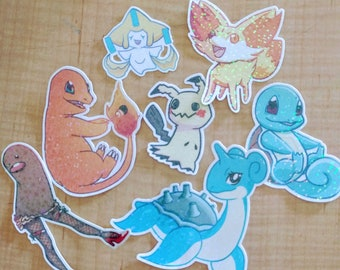 3 for 10: Holographic Glitter Stickers