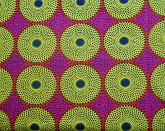 Wax fabric African loincloth coupon 45cm x 116cm