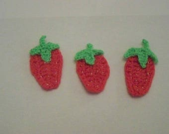 Strawberry crochet for scrapbooking