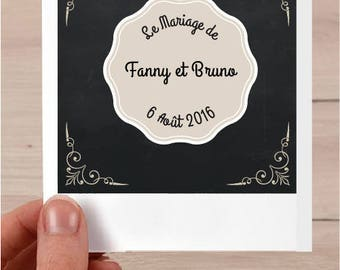 Polaroid customizable wedding invitation