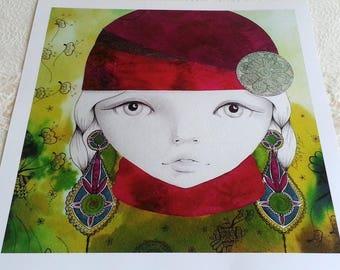 """Art print """"La Bohème"""" 1/8"""