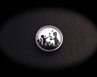 Cabochon 18mm for jewelry - children fashion snap