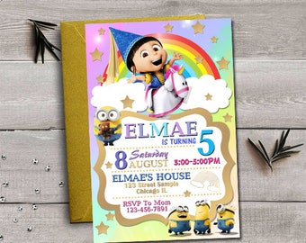 despicable me party | etsy, Party invitations