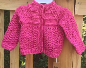 Baby girl Hand knitted Sweater cardigan