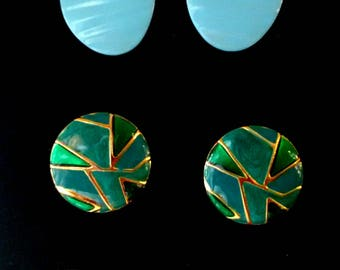 Vintage set of 3 pairs of earrings