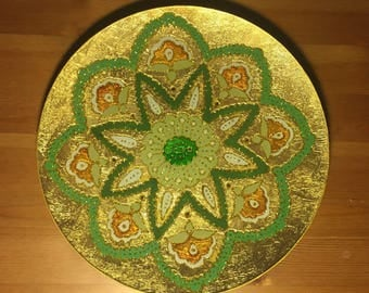 Glass Painted Plate