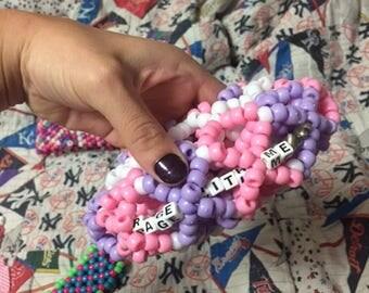 Rage with me kandi bracelet