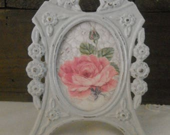 Frame footed vintage shabby chic / old pink decor