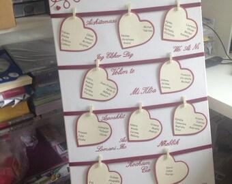 Great wedding love theme table plan