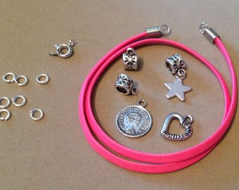 Kit to make a bracelet double rose
