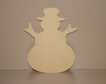Snowman to decorate, paint 12 cm x 9 cm