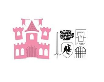 Die cut Marianne Design collectible Castle new