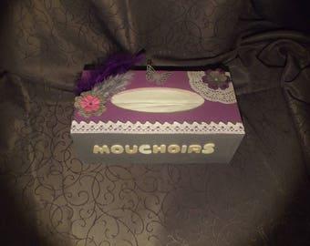 Wooden tissue box sacrapbooking
