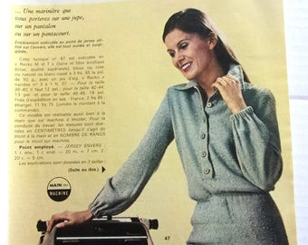 vintage out - March 1971 CROCHET KNITTING booklet