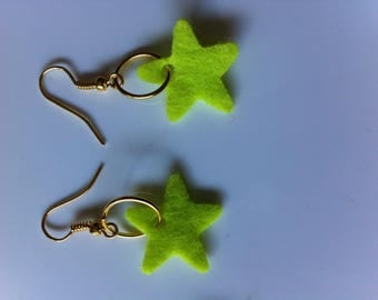 Pierced earrings by yellow stars BAGART