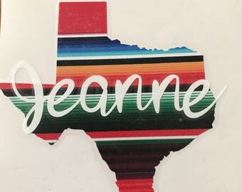 Texas with Name