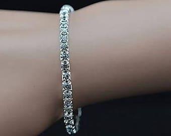Beautiful rhinestone in the fashion elastic bracelet