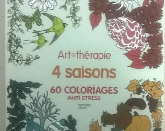 ART THERAPY BLOCK 4 SEASONS COLORING