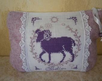 "Zodiac embroidered ""Aries"" cross stitch Kit"