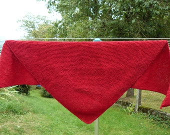 large Burgundy woman shawl