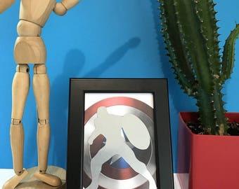 Frame black 10 x 15 Captain America aluminum