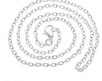 Set of 12 strings color silver 45cm