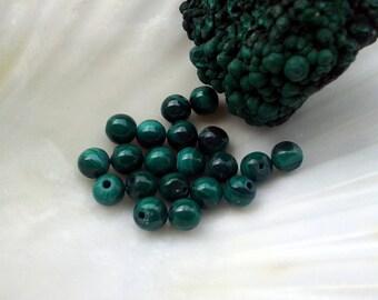 AAA Malachite 4mm Round Beads
