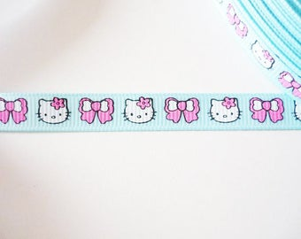 Blue 10mm Kitty Cat Ribbon and bow