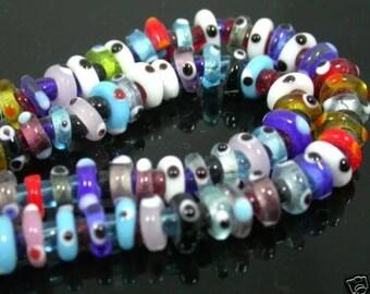 lot 30 eye glass beads Murano Lampwork beads