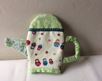 Fabric teapot - teapot made of cotton with felt lining