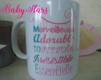 Illustration Grandma gift, birthday, anniversary, personalized mug!