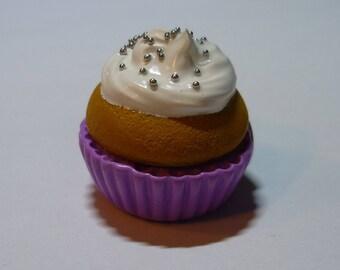 Magnet-magnet - purple Cupcake Fimo