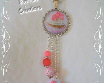 Cabochon Cupcake resin bag charm or pendant beads